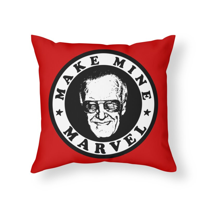 Make Mine Marvel Home Throw Pillow by HIDENbehindAroc's Shop