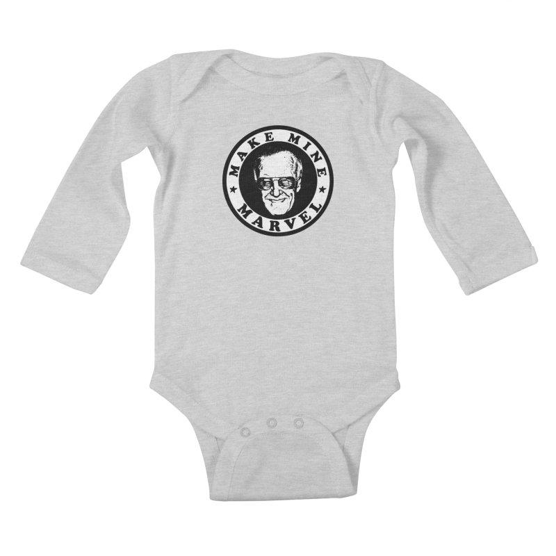 Make Mine Marvel Kids Baby Longsleeve Bodysuit by HIDENbehindAroc's Shop