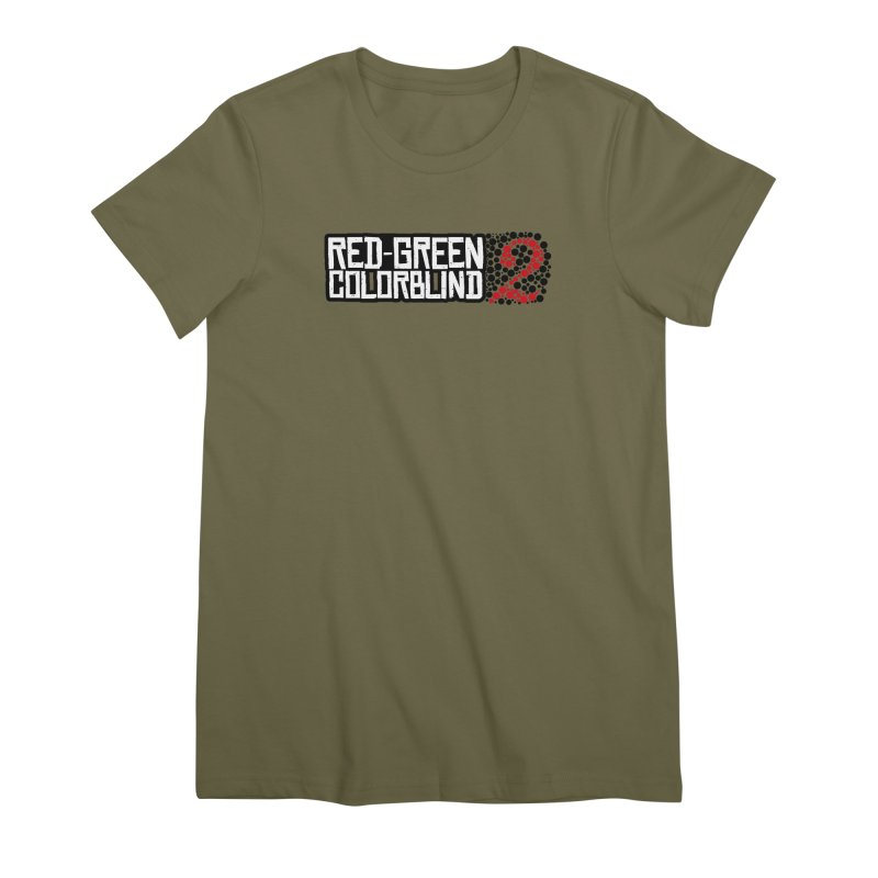 Red Green Colorblind 2 Women's Premium T-Shirt by HIDENbehindAroc's Shop