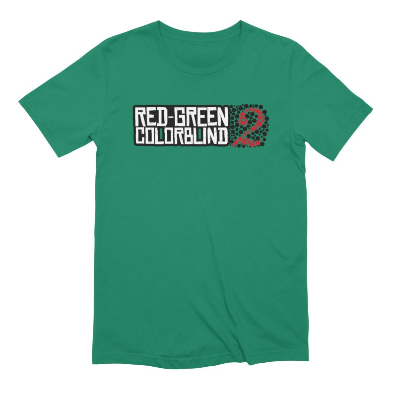 Red Green Colorblind 2 Men's Extra Soft T-Shirt by HIDENbehindAroc's Shop