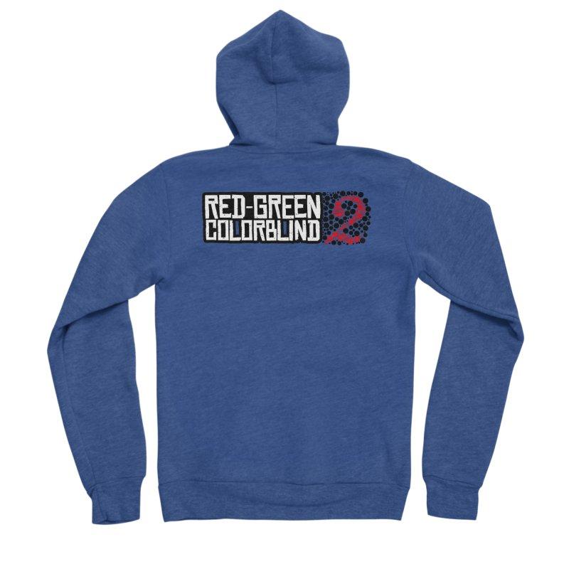 Red Green Colorblind 2 Women's Sponge Fleece Zip-Up Hoody by HIDENbehindAroc's Shop