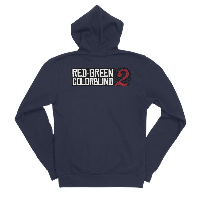 Red Green Colorblind 2 Men's Sponge Fleece Zip-Up Hoody by HIDENbehindAroc's Shop