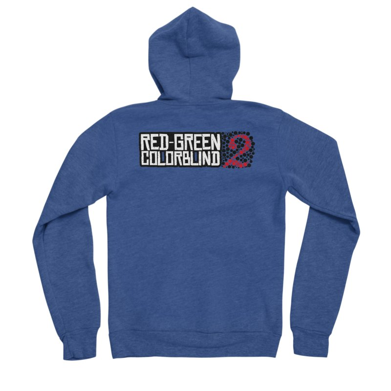 Red Green Colorblind 2 Men's Sponge Fleece Zip-Up Hoody by HIDENbehindAroc's Shop