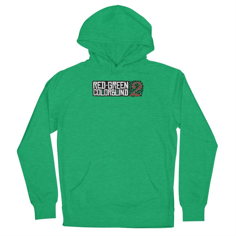 Red Green Colorblind 2 Men's French Terry Pullover Hoody by HIDENbehindAroc's Shop