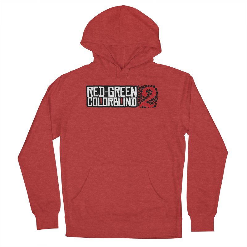 Red Green Colorblind 2 Women's French Terry Pullover Hoody by HIDENbehindAroc's Shop
