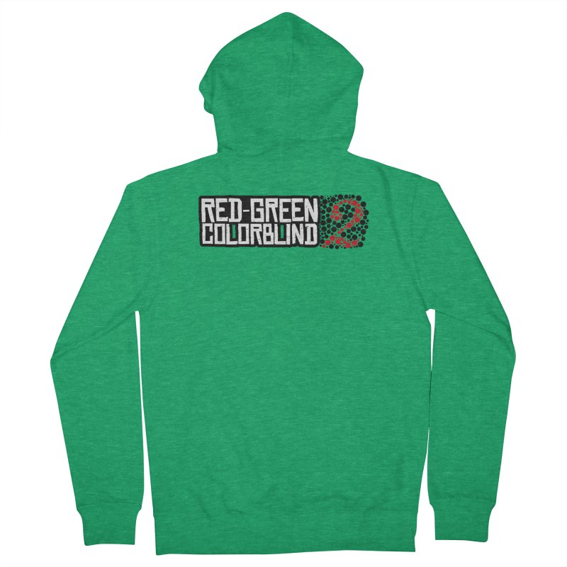 Red Green Colorblind 2 Women's Zip-Up Hoody by HIDENbehindAroc's Shop