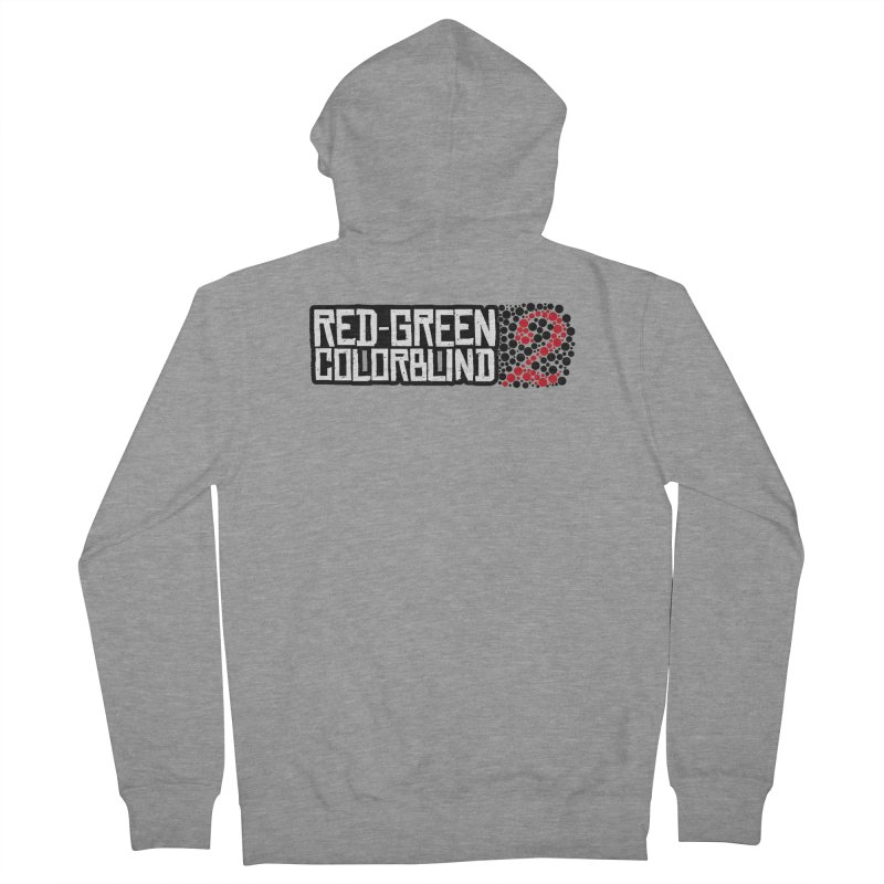 Red Green Colorblind 2 Women's French Terry Zip-Up Hoody by HIDENbehindAroc's Shop