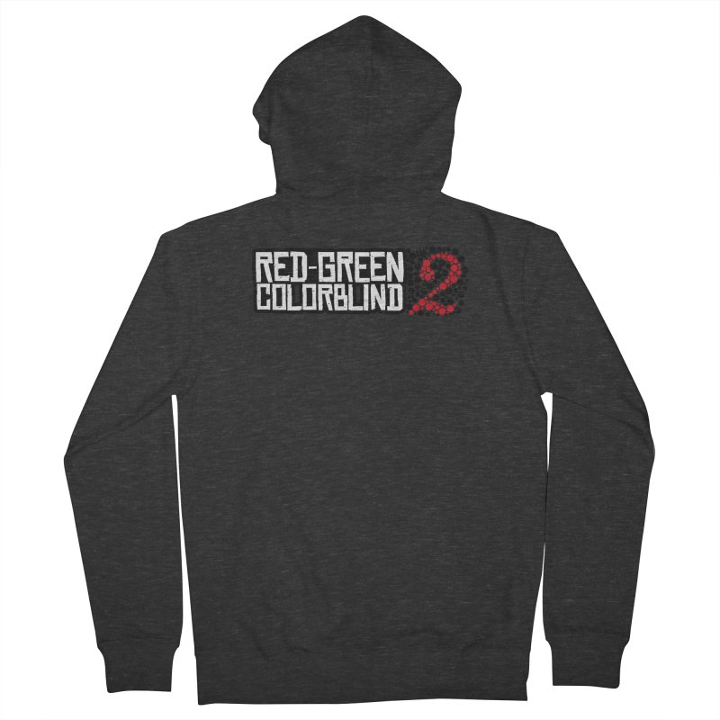 Red Green Colorblind 2 Men's French Terry Zip-Up Hoody by HIDENbehindAroc's Shop