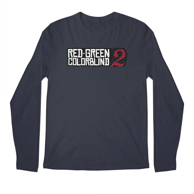 Red Green Colorblind 2 Men's Regular Longsleeve T-Shirt by HIDENbehindAroc's Shop