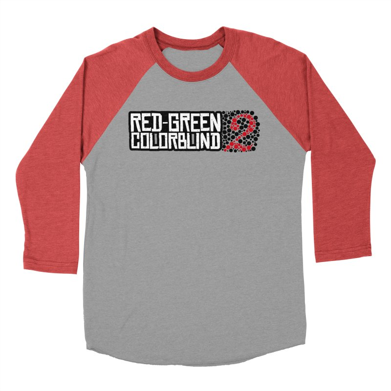 Red Green Colorblind 2 Men's Baseball Triblend Longsleeve T-Shirt by HIDENbehindAroc's Shop