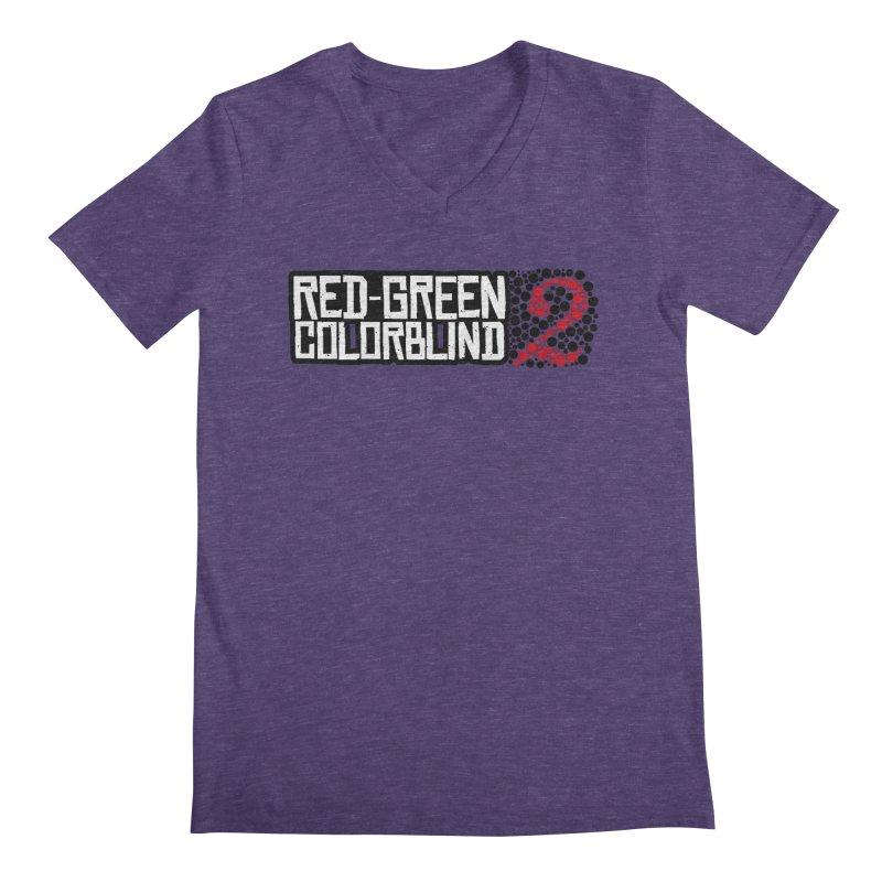 Red Green Colorblind 2 Men's Regular V-Neck by HIDENbehindAroc's Shop