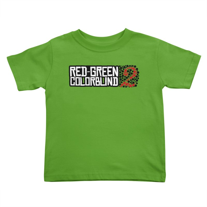 Red Green Colorblind 2 Kids Toddler T-Shirt by HIDENbehindAroc's Shop