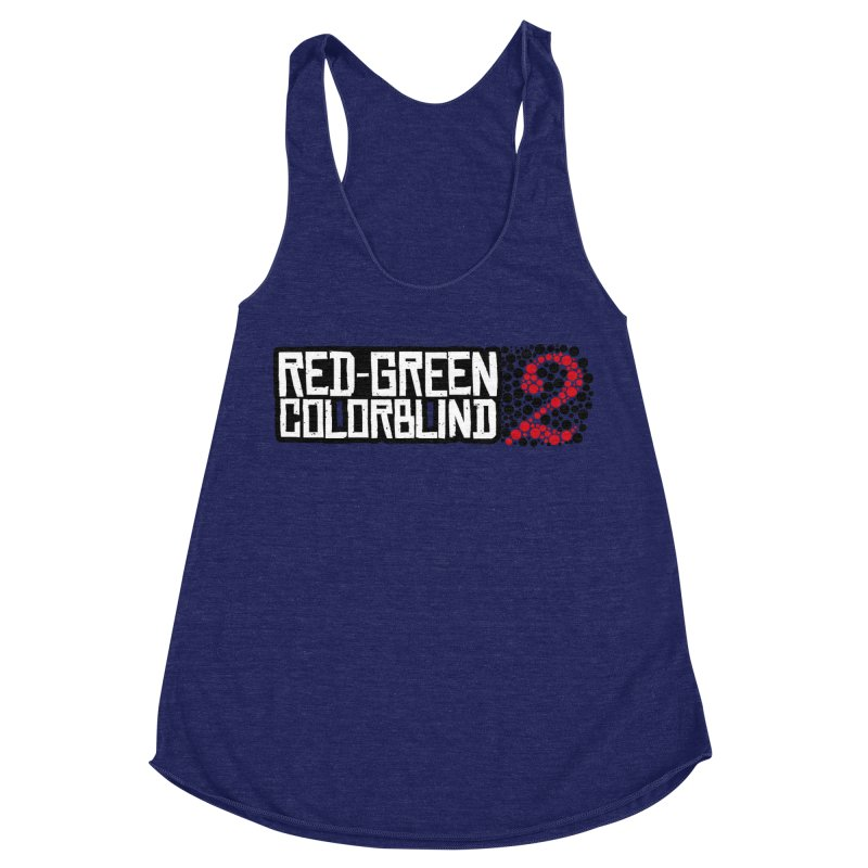 Red Green Colorblind 2 Women's Racerback Triblend Tank by HIDENbehindAroc's Shop