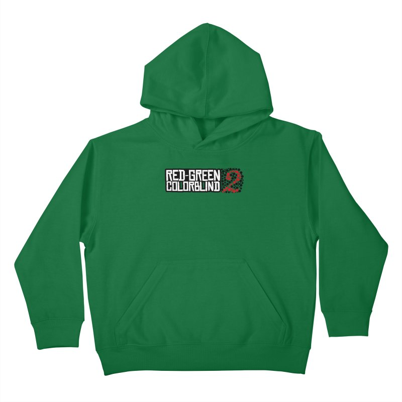 Red Green Colorblind 2 Kids Pullover Hoody by HIDENbehindAroc's Shop