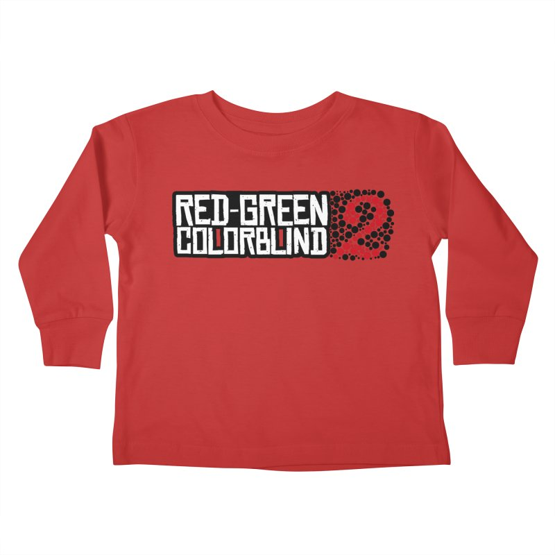 Red Green Colorblind 2 Kids Toddler Longsleeve T-Shirt by HIDENbehindAroc's Shop