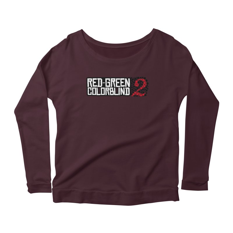 Red Green Colorblind 2 Women's Scoop Neck Longsleeve T-Shirt by HIDENbehindAroc's Shop