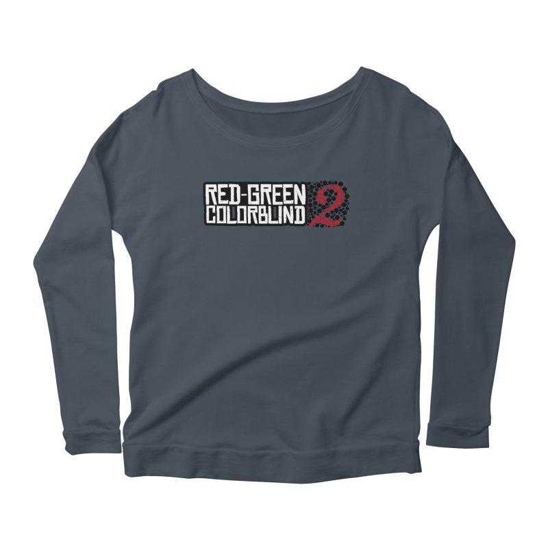 Red Green Colorblind 2 Women's Scoop Neck Longsleeve T-Shirt by HIDENbehindAroc's Shop