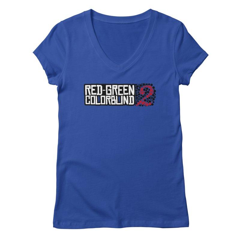 Red Green Colorblind 2 Women's Regular V-Neck by HIDENbehindAroc's Shop