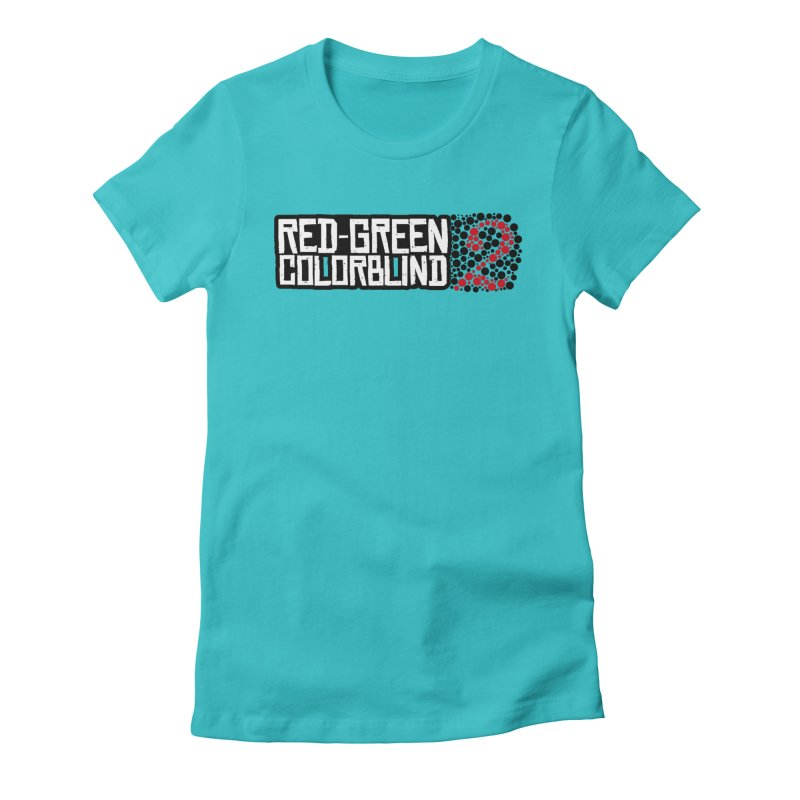 Red Green Colorblind 2 Women's Fitted T-Shirt by HIDENbehindAroc's Shop