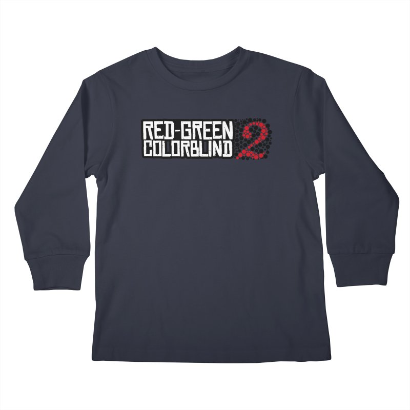 Red Green Colorblind 2 Kids Longsleeve T-Shirt by HIDENbehindAroc's Shop