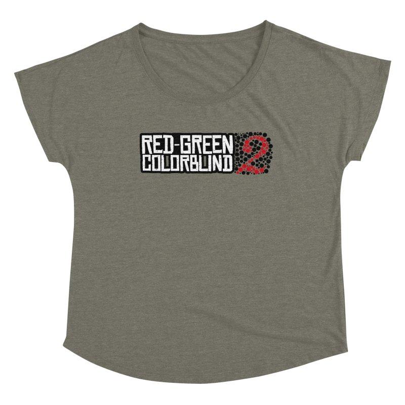Red Green Colorblind 2 Women's Scoop Neck by HIDENbehindAroc's Shop