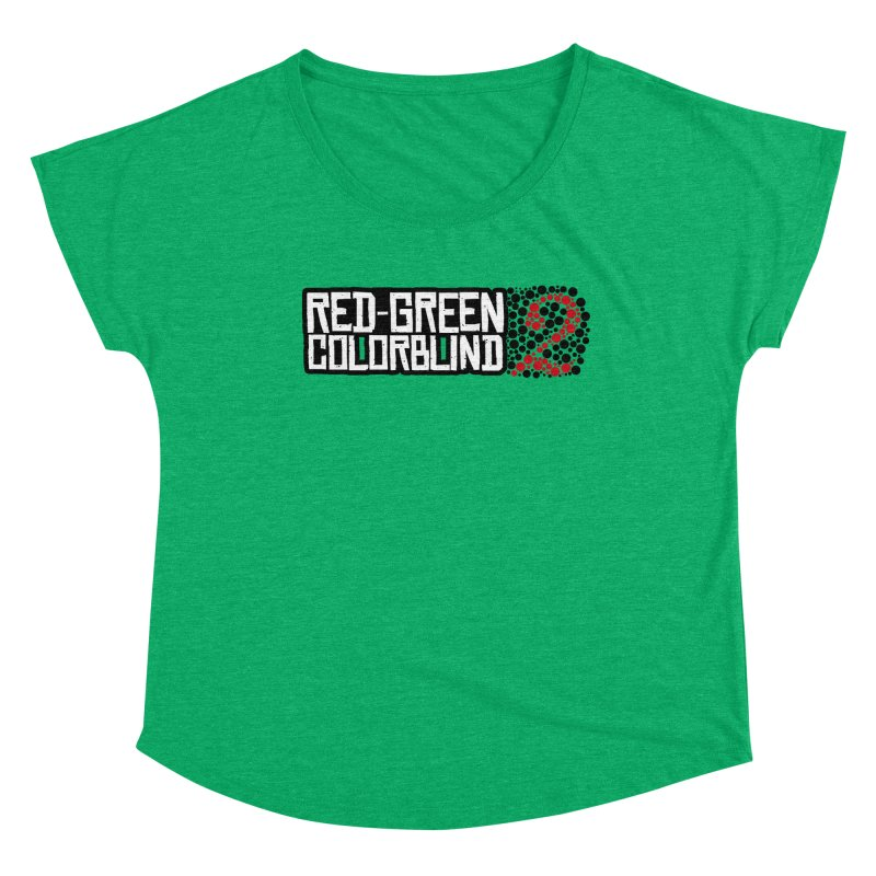 Red Green Colorblind 2 Women's Scoop Neck by HIDENbehindAroc's Shop