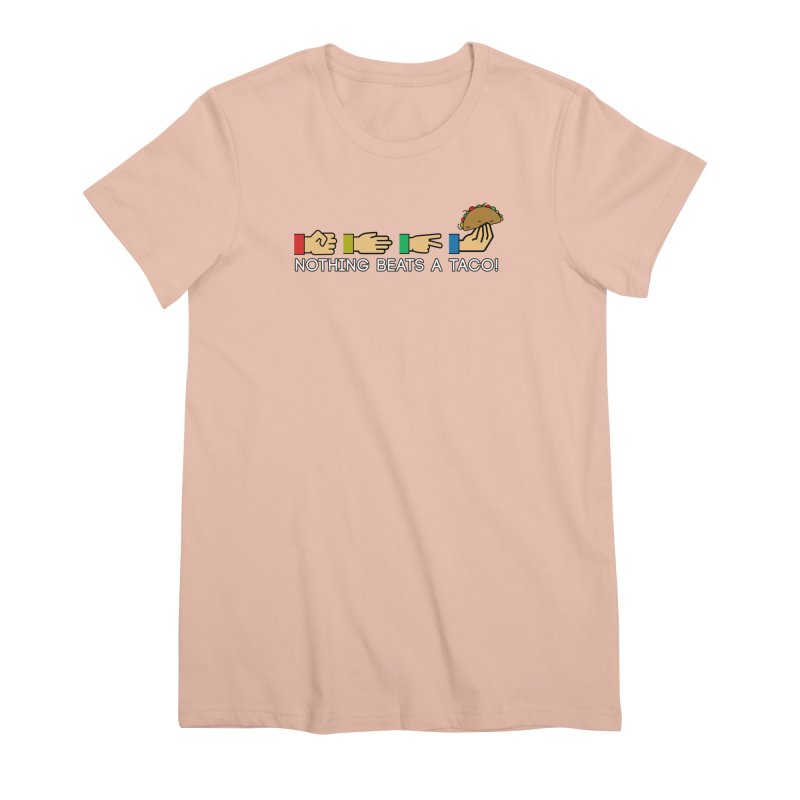 Rock Paper Taco Women's Premium T-Shirt by HIDENbehindAroc's Shop