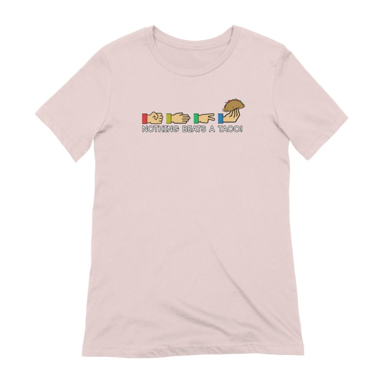 Rock Paper Taco Women's Extra Soft T-Shirt by HIDENbehindAroc's Shop