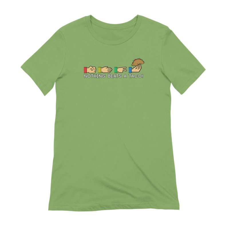 Rock Paper Taco Women's Extra Soft T-Shirt by HIDENbehindAroc's Shop