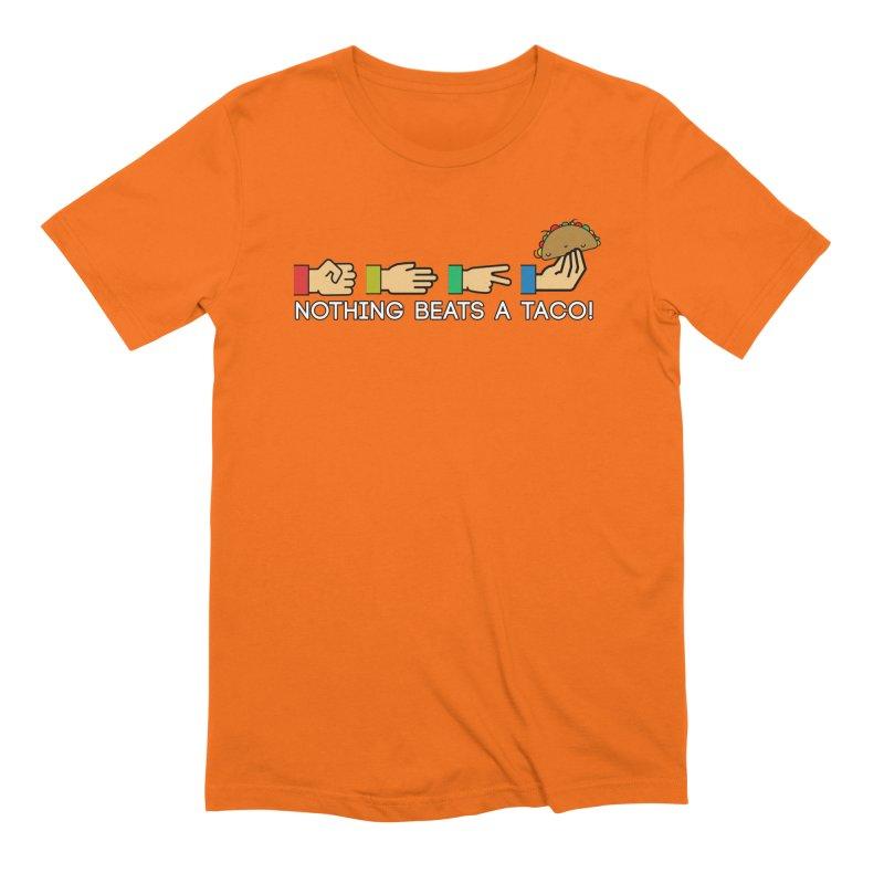 Rock Paper Taco Men's Extra Soft T-Shirt by HIDENbehindAroc's Shop