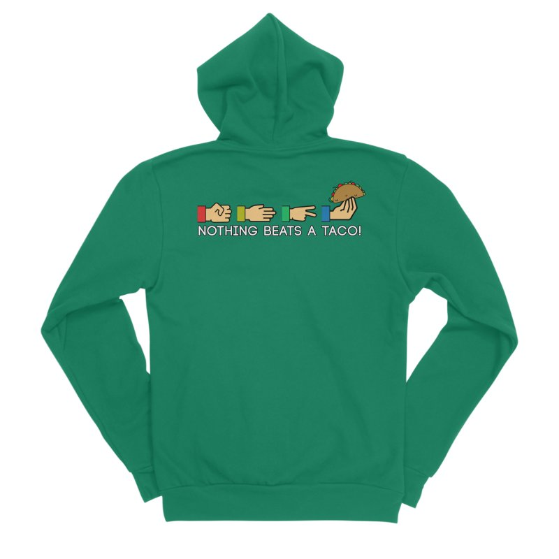 Rock Paper Taco Men's Sponge Fleece Zip-Up Hoody by HIDENbehindAroc's Shop