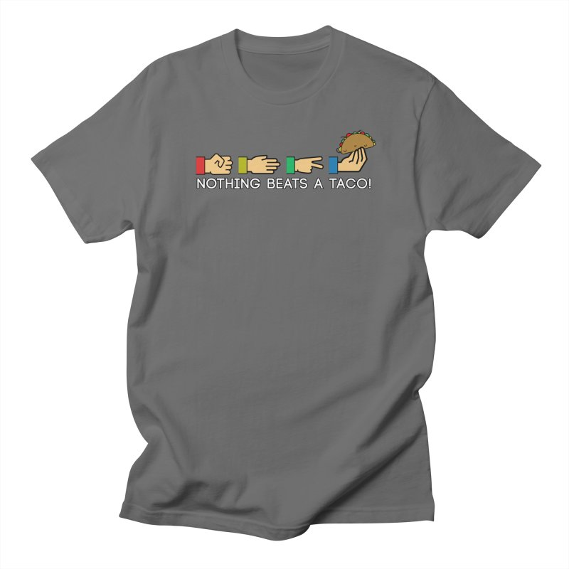Rock Paper Taco Men's T-Shirt by HIDENbehindAroc's Shop