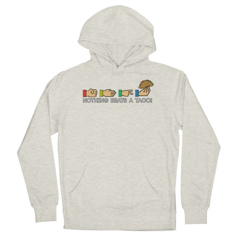 Rock Paper Taco Men's French Terry Pullover Hoody by HIDENbehindAroc's Shop