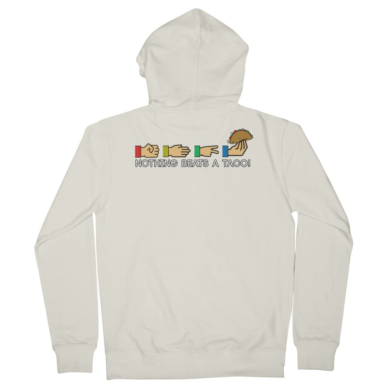 Rock Paper Taco Women's French Terry Zip-Up Hoody by HIDENbehindAroc's Shop