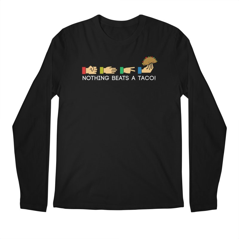 Rock Paper Taco Men's Longsleeve T-Shirt by HIDENbehindAroc's Shop