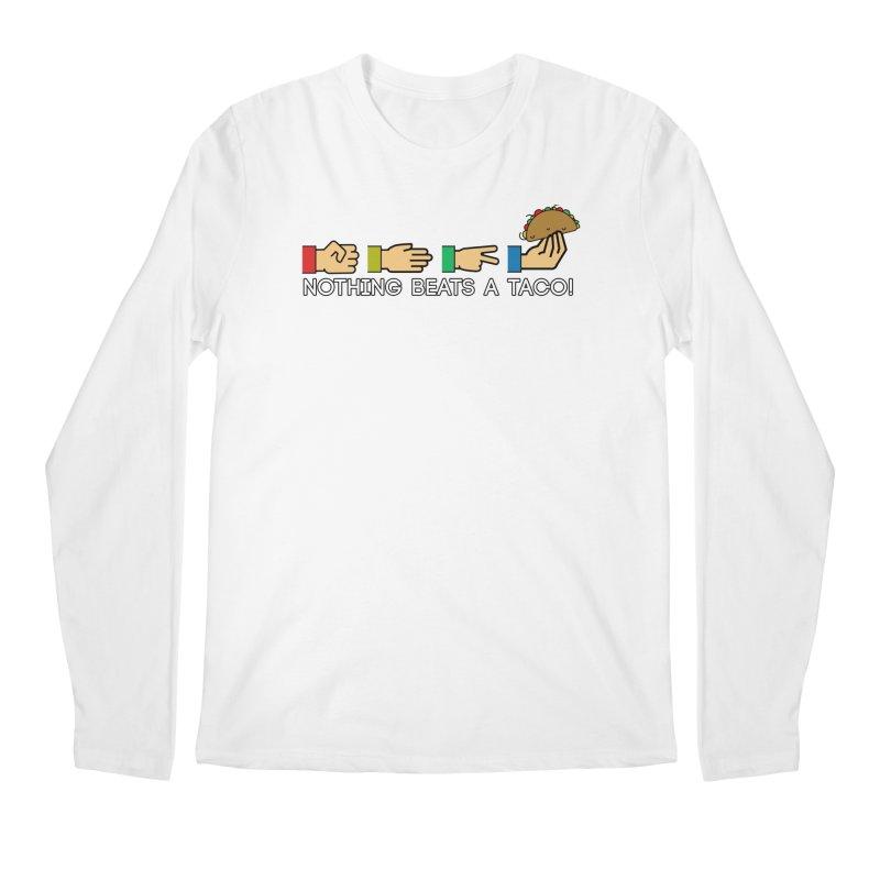 Rock Paper Taco Men's Longsleeve T-Shirt by HIDENbehindAroc's Shop