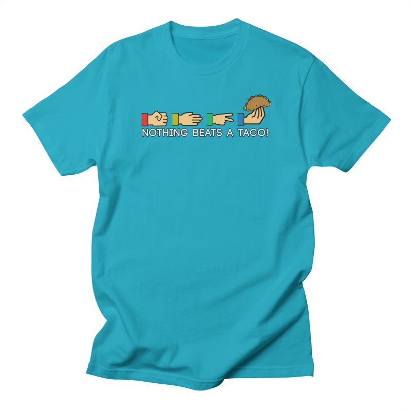 Rock Paper Taco Men's Regular T-Shirt by HIDENbehindAroc's Shop