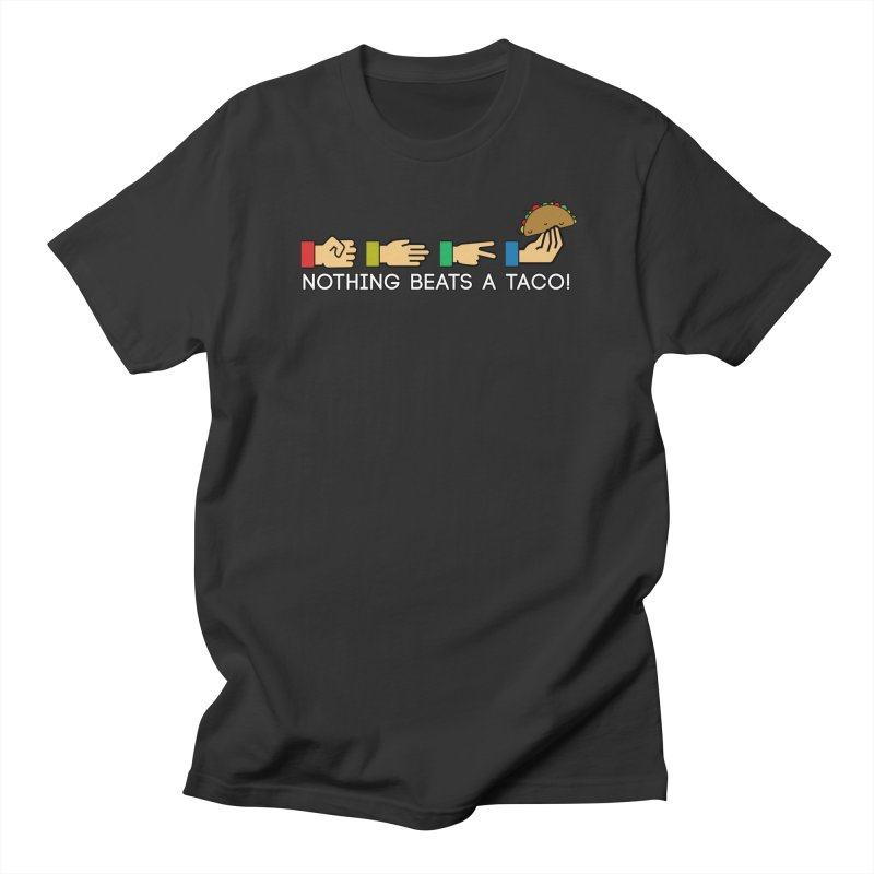 Rock Paper Taco Men's Regular T-Shirt by HIDENbehindAroc's Shop