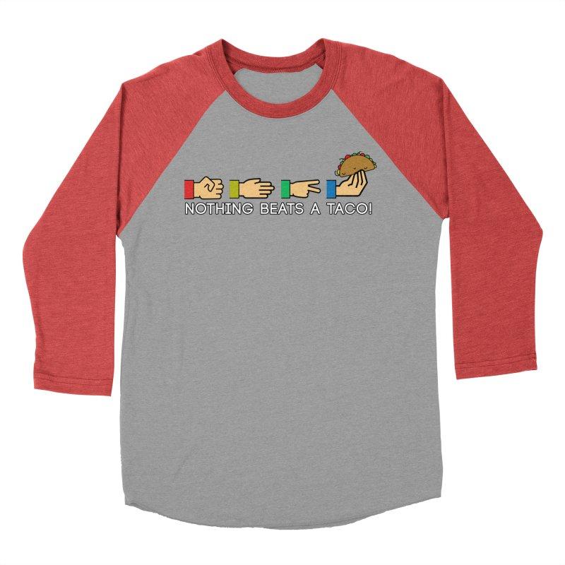 Rock Paper Taco Women's Baseball Triblend Longsleeve T-Shirt by HIDENbehindAroc's Shop