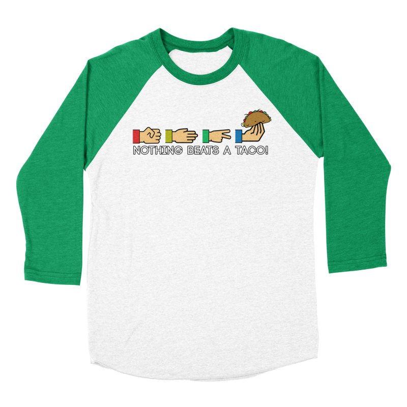 Rock Paper Taco Men's Baseball Triblend Longsleeve T-Shirt by HIDENbehindAroc's Shop