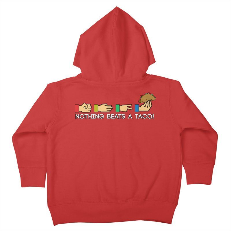 Rock Paper Taco Kids Toddler Zip-Up Hoody by HIDENbehindAroc's Shop