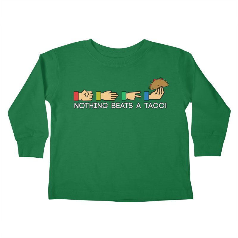 Rock Paper Taco Kids Toddler Longsleeve T-Shirt by HIDENbehindAroc's Shop