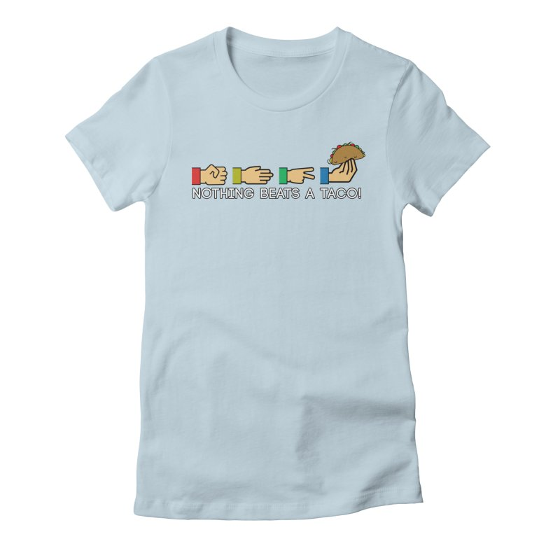 Rock Paper Taco Women's Fitted T-Shirt by HIDENbehindAroc's Shop