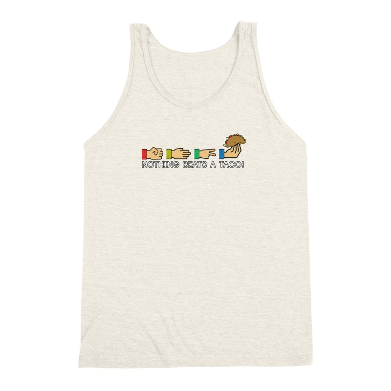 Rock Paper Taco Men's Triblend Tank by HIDENbehindAroc's Shop