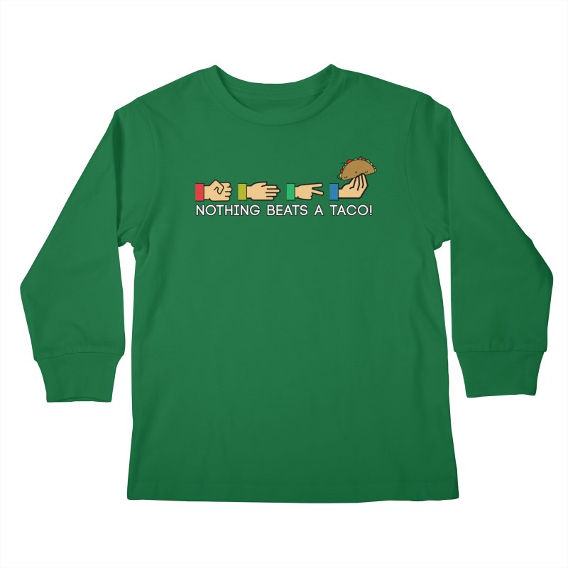 Rock Paper Taco Kids Longsleeve T-Shirt by HIDENbehindAroc's Shop