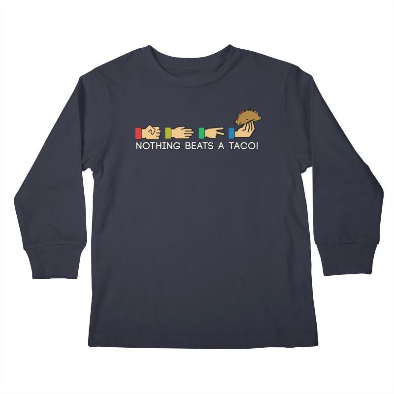 Rock Paper Taco Kids Longsleeve T-Shirt by HIDENbehindAroc's Shop