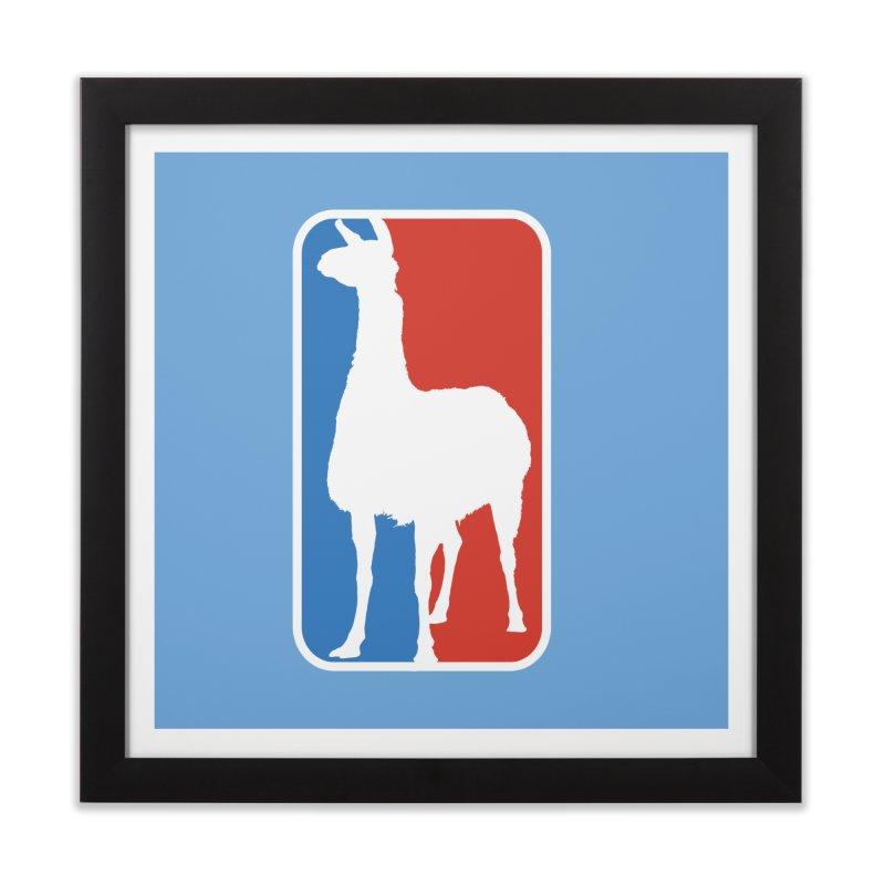 Llama Players Home Framed Fine Art Print by HIDENbehindAroc's Shop