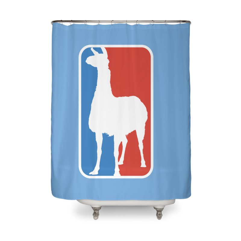 Llama Players Home Shower Curtain by HIDENbehindAroc's Shop