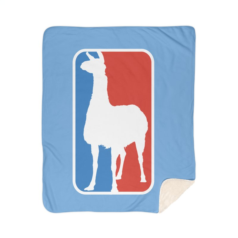Llama Players Home Sherpa Blanket Blanket by HIDENbehindAroc's Shop
