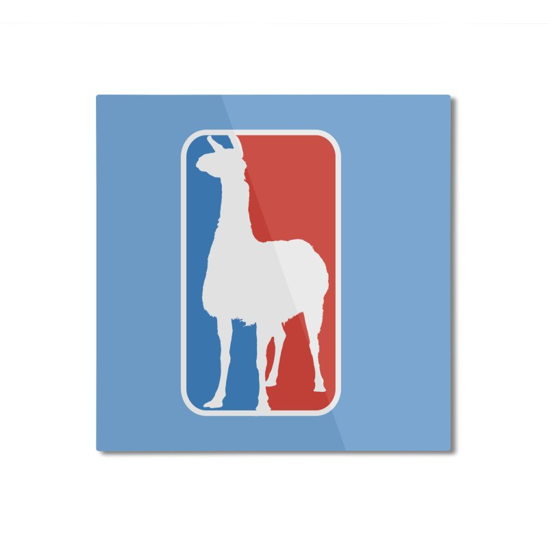 Llama Players Home Mounted Aluminum Print by HIDENbehindAroc's Shop